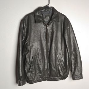 Jos A. Bank leather jacket